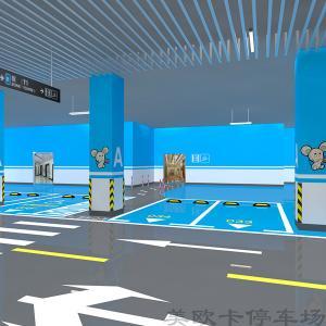 停车场电梯楼梯厅及墙柱面3D效果图设计