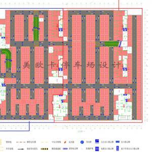 某小区停车场平面效果图设计