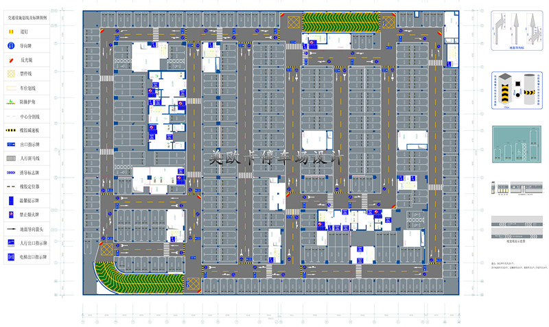 地下停车场平面设计图