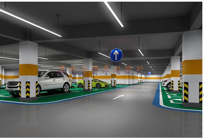 地下停车场3D设计-地下车库3D设计